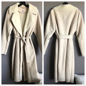 Eliza J • Long Faux Suede Coat